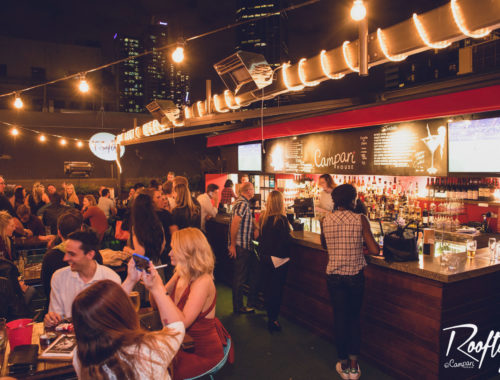 Rooftop Bar Melbourne Saturday Night CBD