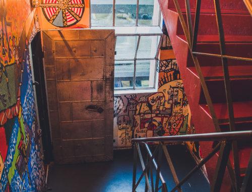 Campari House Rooftop Bar Stairway