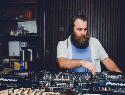 DJ at Campari House Lounge