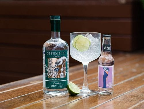Sipsmith Gin with Artisan Violet Blossom tonic